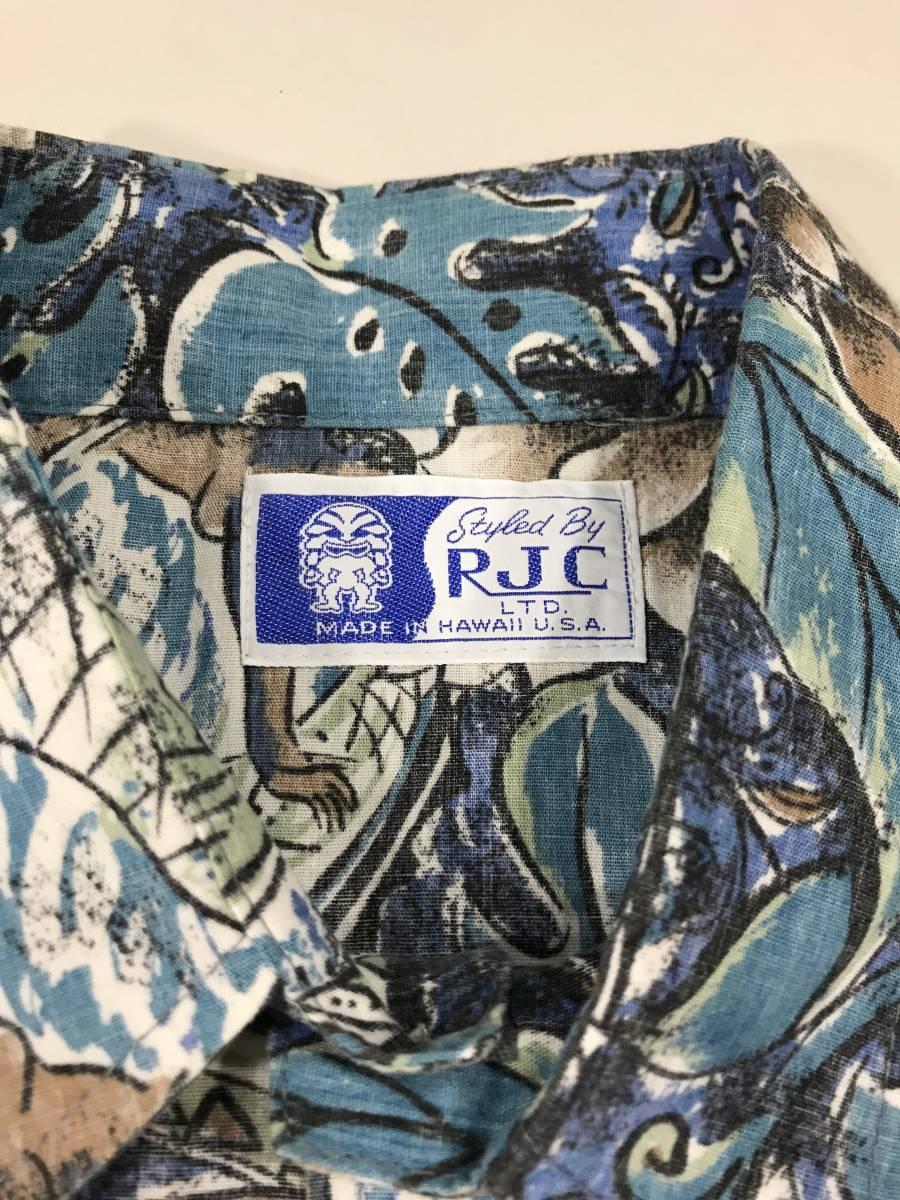 古着 15704 RJC 半袖 アロハ シャツ サーフィン サーフ ハワイアン hawaii 柄 アウトドア キャンプ プルオーバー ビンテージ _画像2