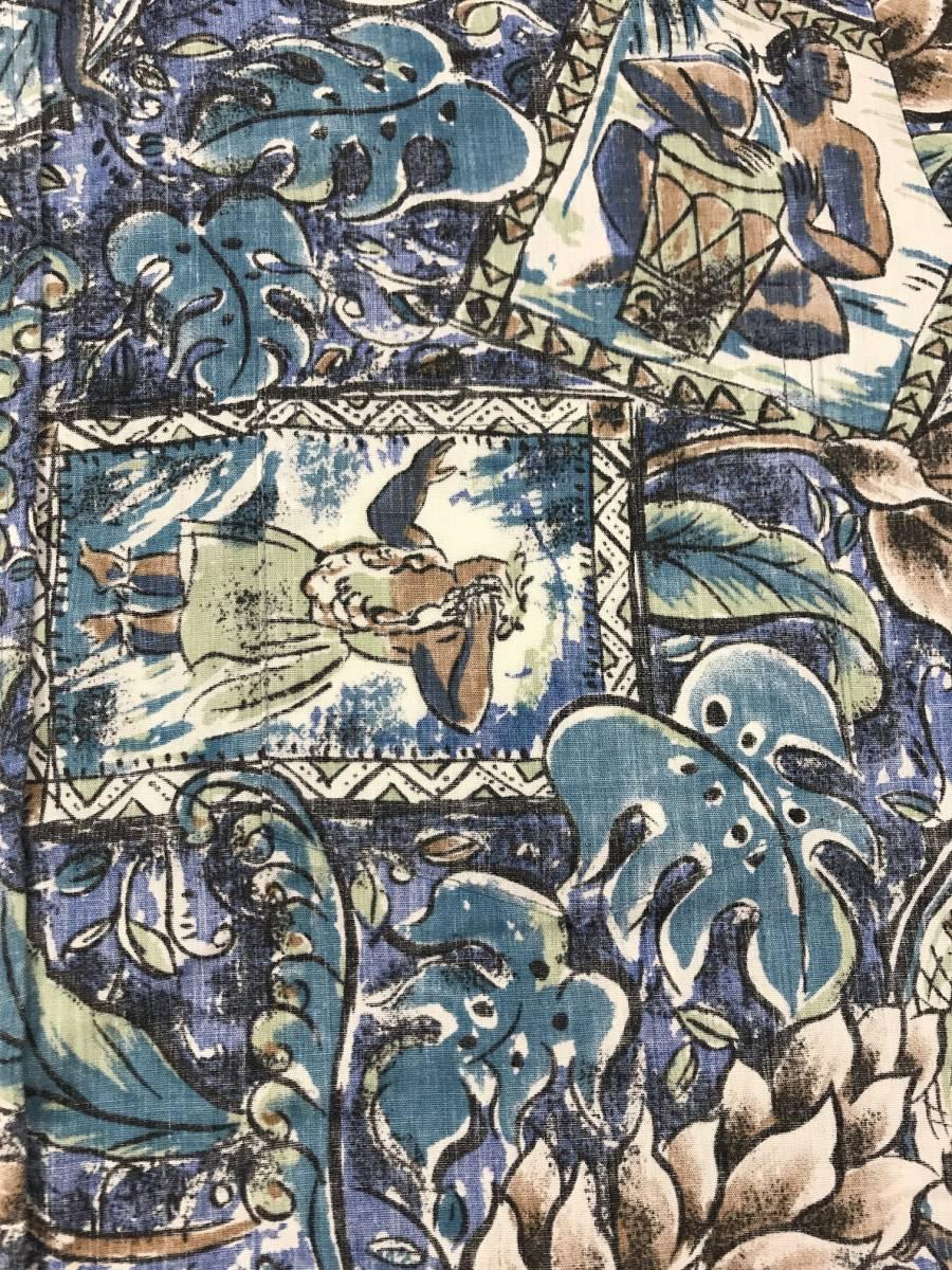 古着 15704 RJC 半袖 アロハ シャツ サーフィン サーフ ハワイアン hawaii 柄 アウトドア キャンプ プルオーバー ビンテージ _画像3