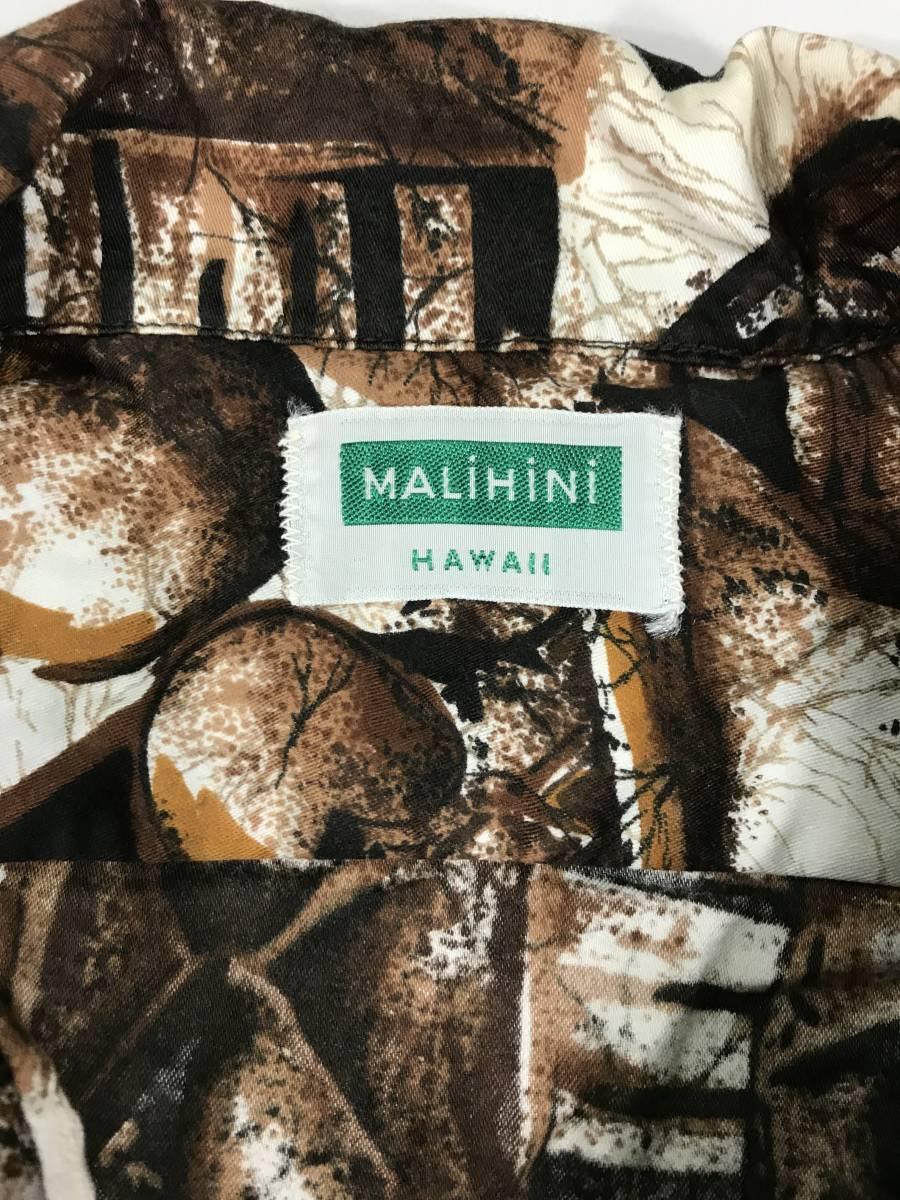 古着 15718 MALIHINI 半袖 アロハ シャツ サーフィン サーフ ハワイアン hawaii 柄 アウトドア キャンプ ビンテージ _画像3