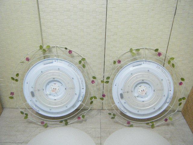 Aま65▲2台セット♪DAIKO ダイコー LEDシーリングライト DCL-39270 照明器具 2台=参考価格114,050円~6~8畳に対応 ロココ調 モダン _画像5