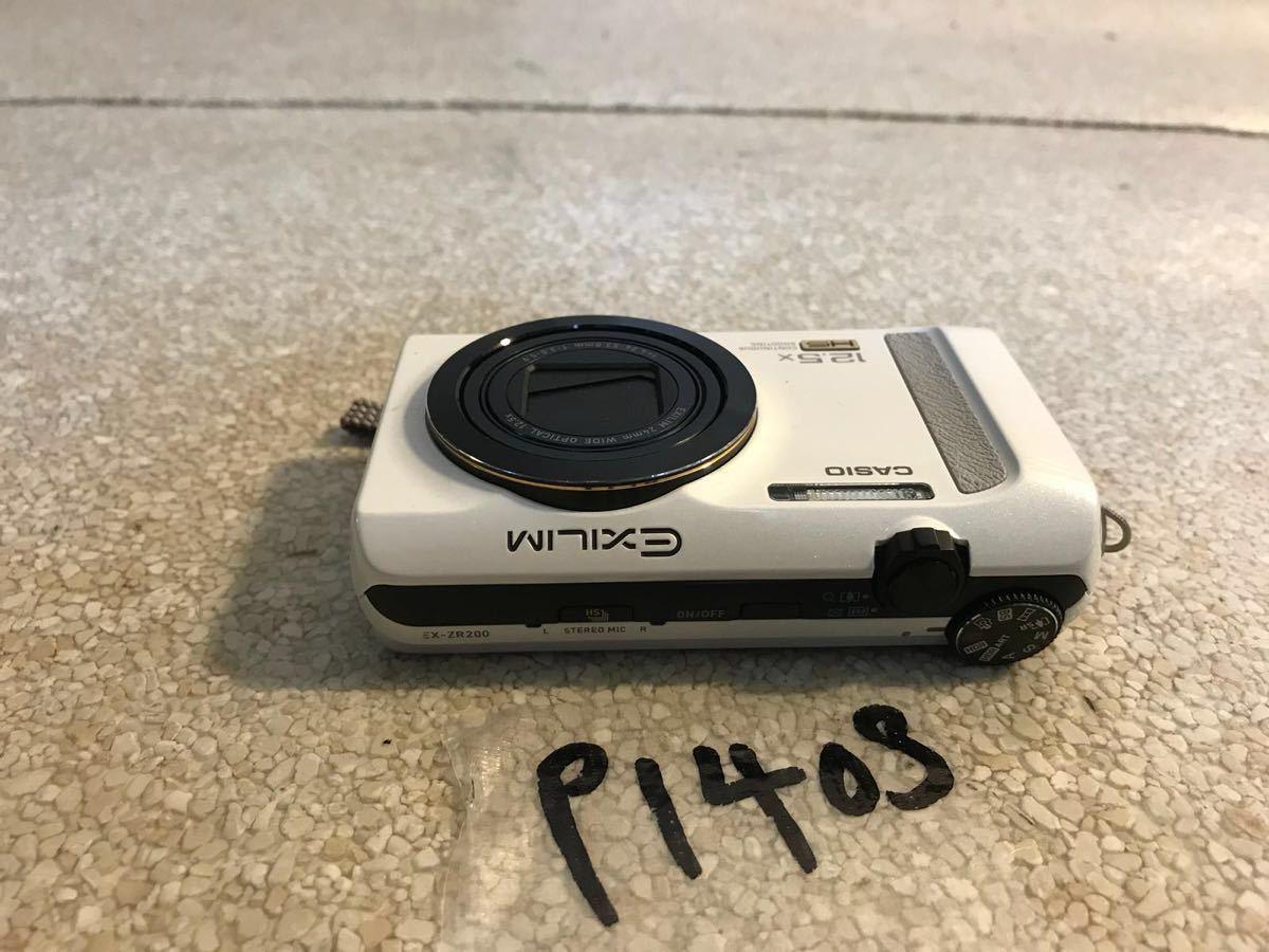 P1408. *CASIO* EXILIM 、デジタルカメラ 、EX-ZR200