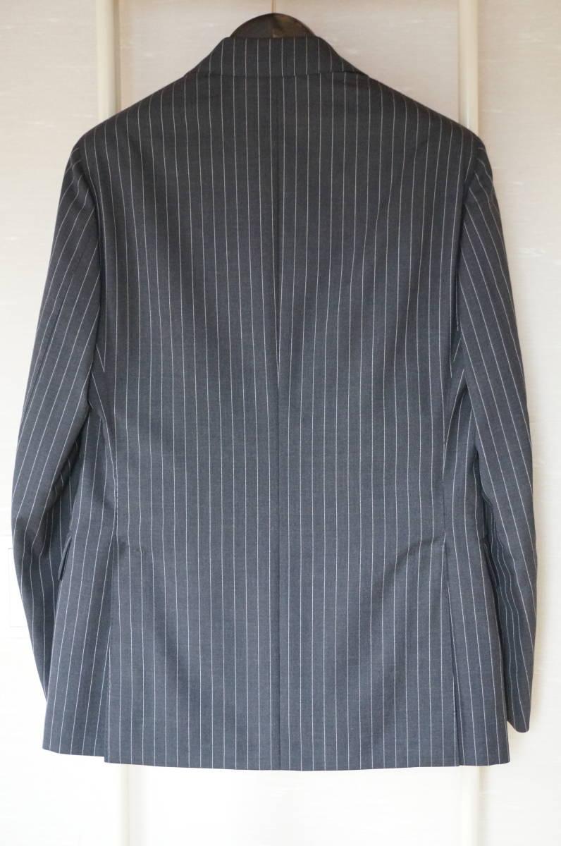 着用数回のみラルディーニ春夏定番スーツ46グレーストライプ16万円定番だからこそLARDINIでイタリア製セットアップジャケットPT011904-0525_画像6