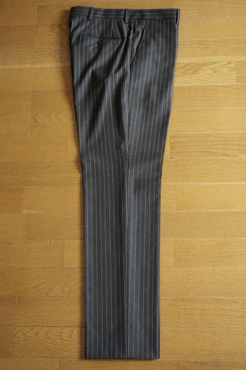 着用数回のみラルディーニ春夏定番スーツ46グレーストライプ16万円定番だからこそLARDINIでイタリア製セットアップジャケットPT011904-0525_画像7