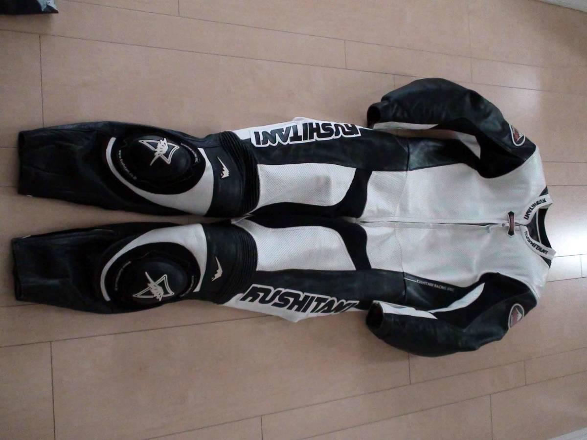 レーシングスーツ KUSHITANI クシタニ サイズLL/XL ホワイト/ブラック MFJ公認 K-0065XX GLIDE SUIT 一度のみ使用の美品