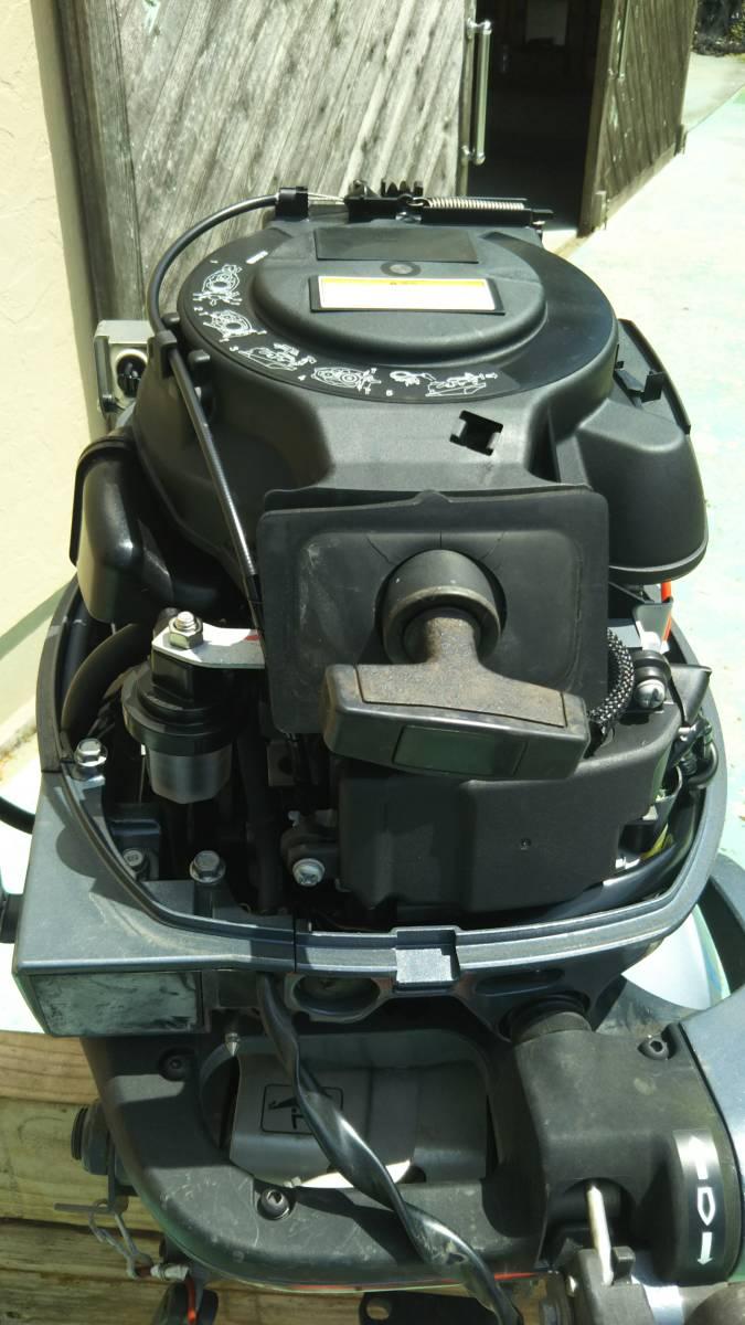 ヤマハ 4サイクル 15馬力 船外機 ホース タンク 水洗プラグ セット 展示品 試運転のみ_画像4