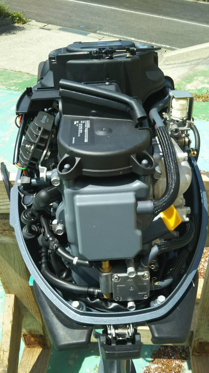 ヤマハ 4サイクル 15馬力 船外機 ホース タンク 水洗プラグ セット 展示品 試運転のみ_画像6