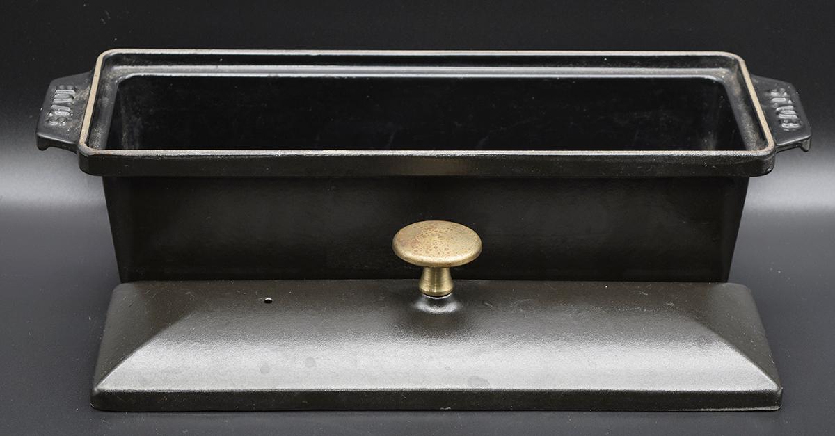 ストウブ テリーヌ型 30x11cm ブラック Rectangular terrine STAUB_画像2