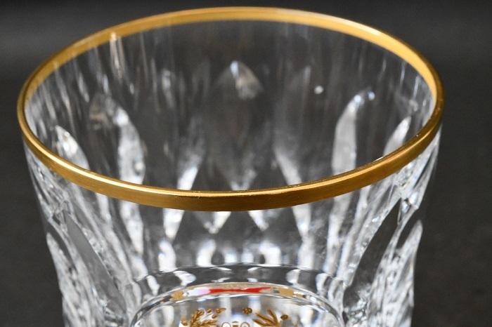 【美品】Baccarat/バカラ バカラ誕生 225周年記念 特別記念作品 金彩紋章ロックグラス ③_画像2