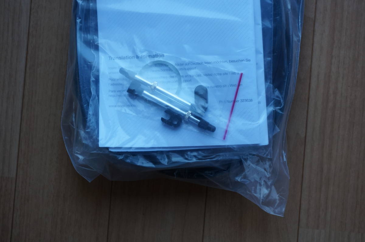 送料無料 ボントレガー AURA5 チューブレスキット付 タイヤと予備のチューブ付_画像7