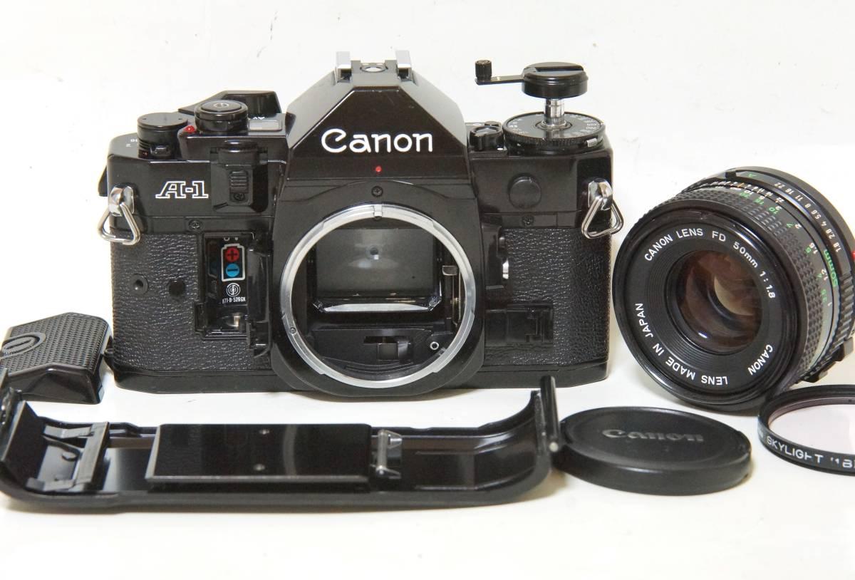Canon A-1 NewFD50mmF1.8標準レンズセット【動作確認済】_画像7
