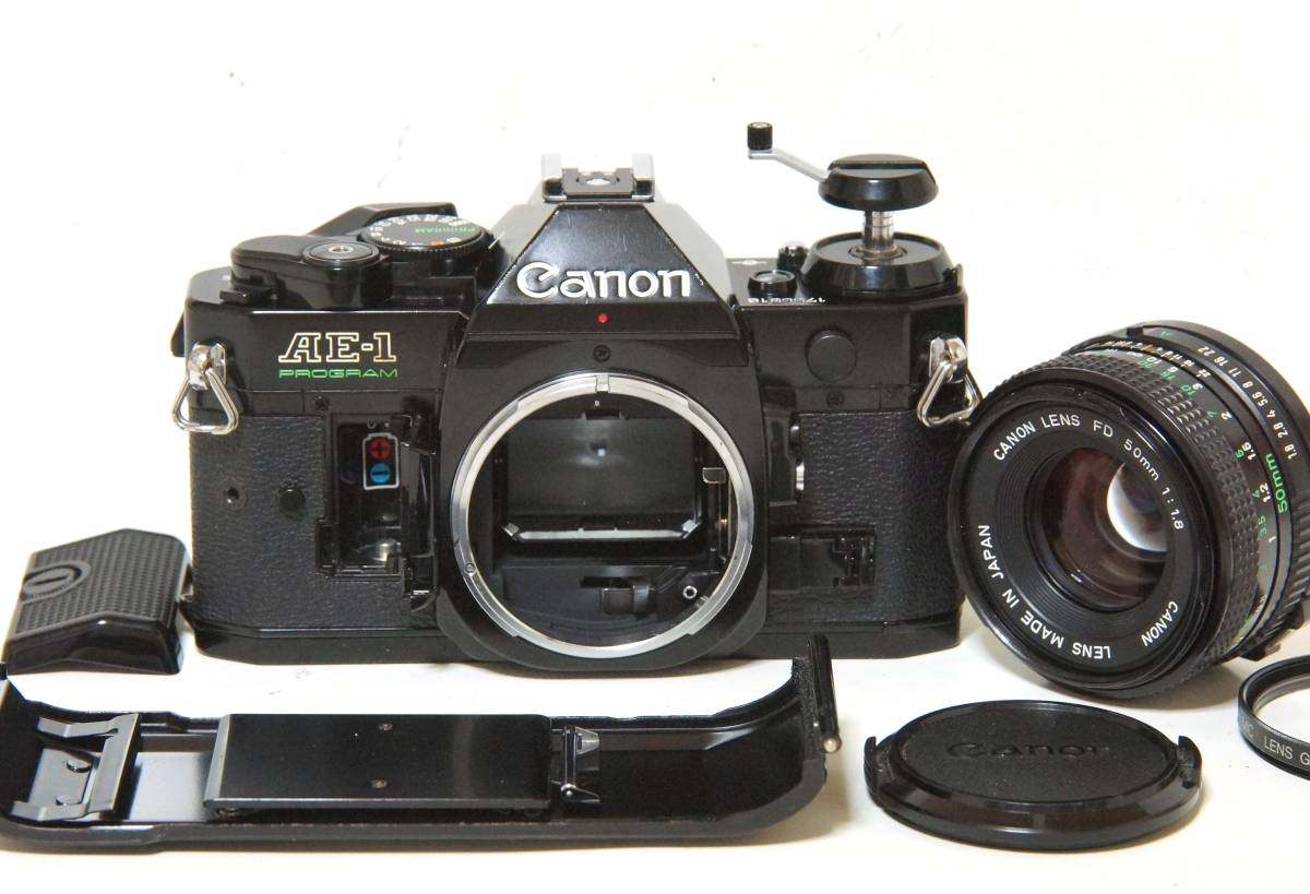 Canon AE-1P NewFD50mmF1.8 標準レンスセット【動作確認済】_画像7