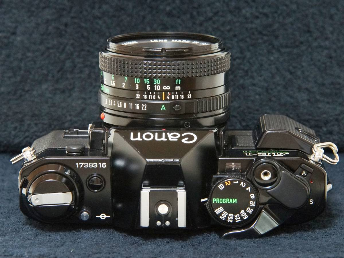 Canon AE-1P NewFD50mmF1.8 標準レンスセット【動作確認済】_画像4