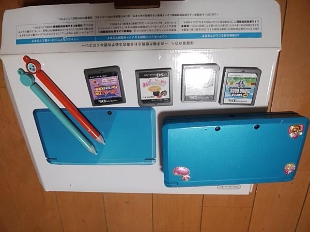 3DS箱入りライトブルー&DSソフト太鼓の達人、マリオカート、他2種まとめて