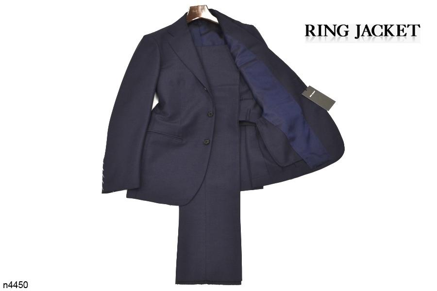 【新品タグ付き】 RING JACKET リングヂャケット 「MEISTER マイスター」 艶ネイビー 日本製 高級モヘヤスーツ 44_画像2
