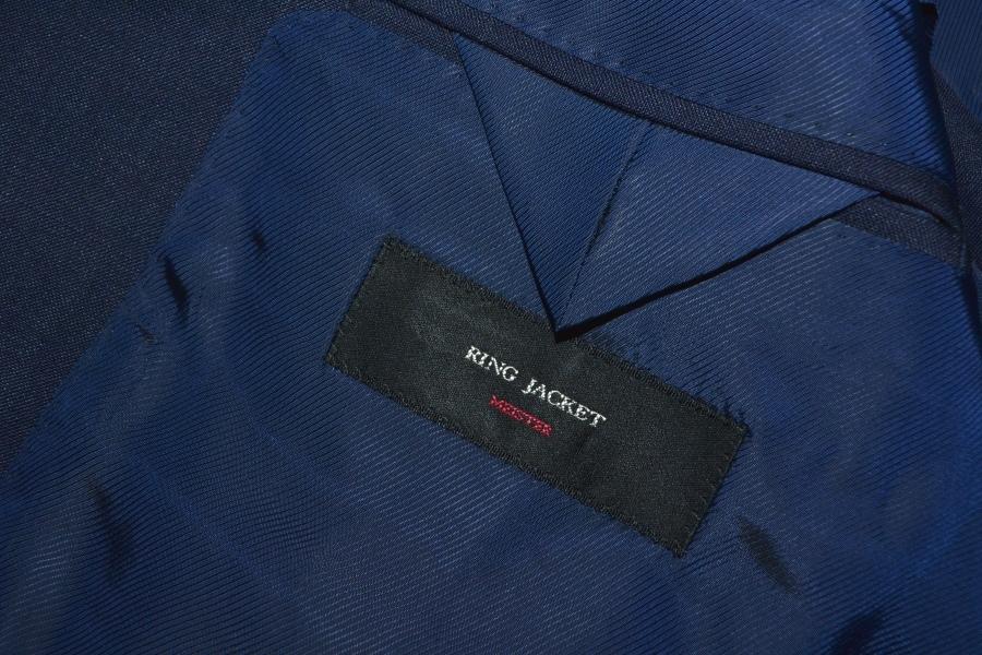 【新品タグ付き】 RING JACKET リングヂャケット 「MEISTER マイスター」 艶ネイビー 日本製 高級モヘヤスーツ 44_画像5