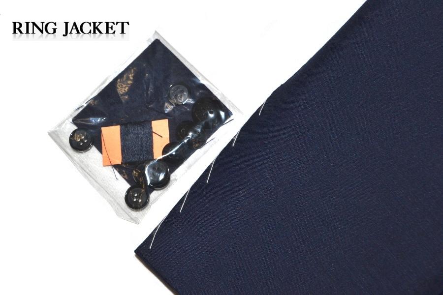 【新品タグ付き】 RING JACKET リングヂャケット 「MEISTER マイスター」 艶ネイビー 日本製 高級モヘヤスーツ 44_画像6