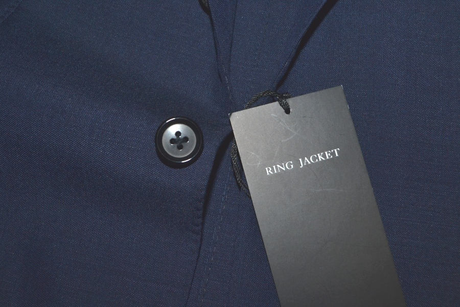 【新品タグ付き】 RING JACKET リングヂャケット 「MEISTER マイスター」 艶ネイビー 日本製 高級モヘヤスーツ 44_画像7