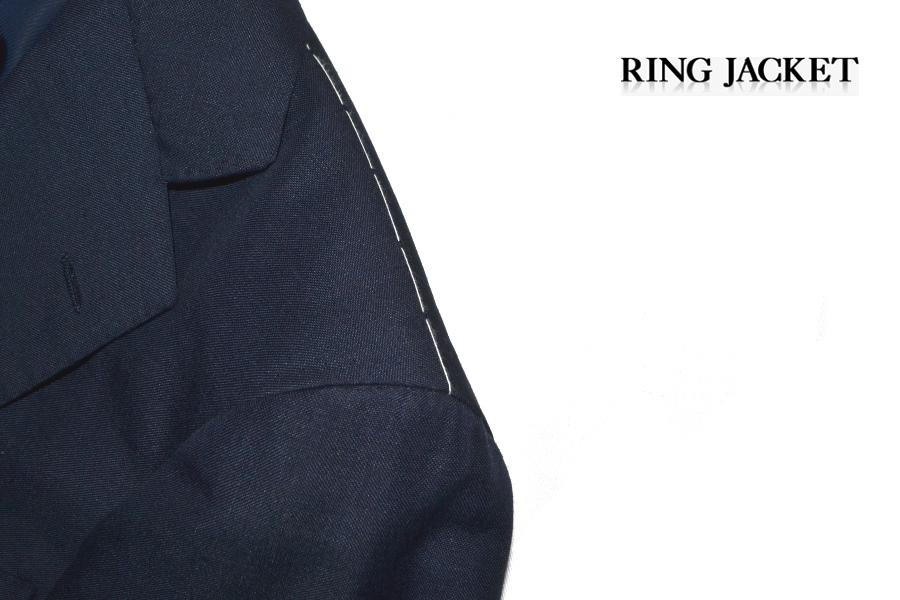 【新品タグ付き】 RING JACKET リングヂャケット 「MEISTER マイスター」 艶ネイビー 日本製 高級モヘヤスーツ 44_画像8