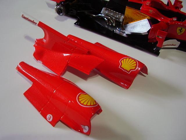 フジミ フェラーリ F10 完成 素人製作品_画像7