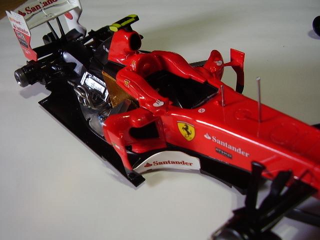 フジミ フェラーリ F10 完成 素人製作品_画像9
