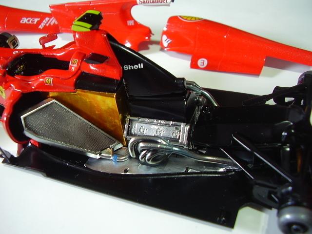 フジミ フェラーリ F10 完成 素人製作品_画像5