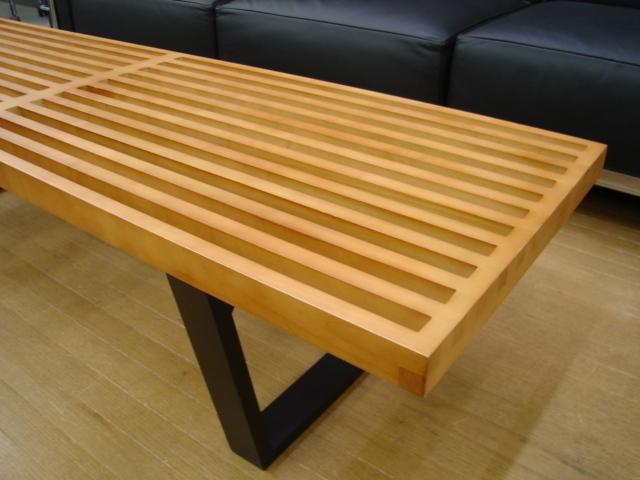 ジョージネルソン ネルソンベンチ チェア テーブル 椅子 チェア イス 机 テーブル ジョージ・ネルソン George Nelson ベンチ ナチュラルS