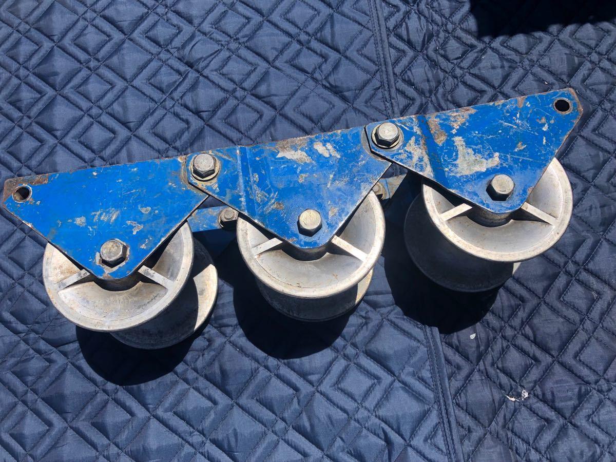 ● 釣車 吊り金車 ケーブル滑車 ダイワ製作所 電設工具 滑車 ダイワ