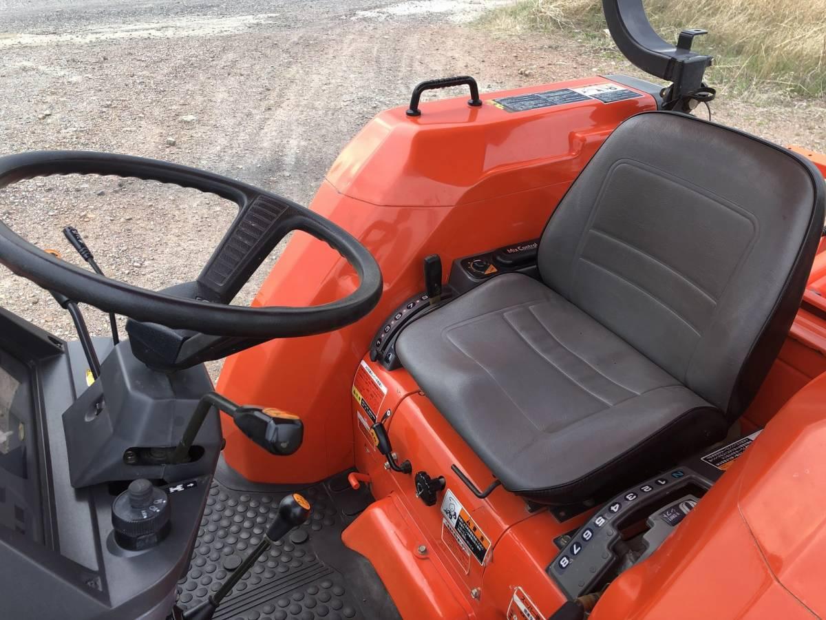 クボタ GL280 4WD 28馬力 前輪新品(日本製) 純正ロータリー ハロー カンジキ「鉄車輪」 倉庫中保管トラクター_画像8