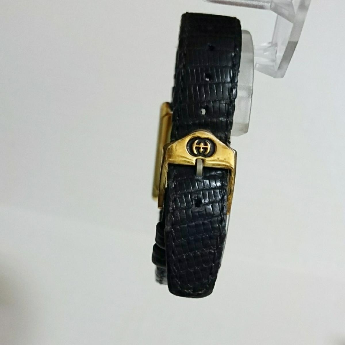 腕時計 グッチ 4100L スクエアブラック文字盤 レディース腕時計_画像5