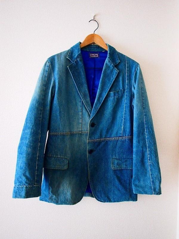 希少!名作 聖林公司 BLUE BLUE JAPAN 日本製 再構築インディゴデニム ジャケット 2/HRM 刺し子剣道カバーオールOKURATシャツAPCニット19SS