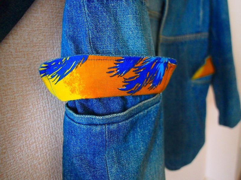 希少!名作 聖林公司 BLUE BLUE JAPAN 日本製 再構築インディゴデニム ジャケット 2/HRM 刺し子剣道カバーオールOKURATシャツAPCニット19SS_画像4