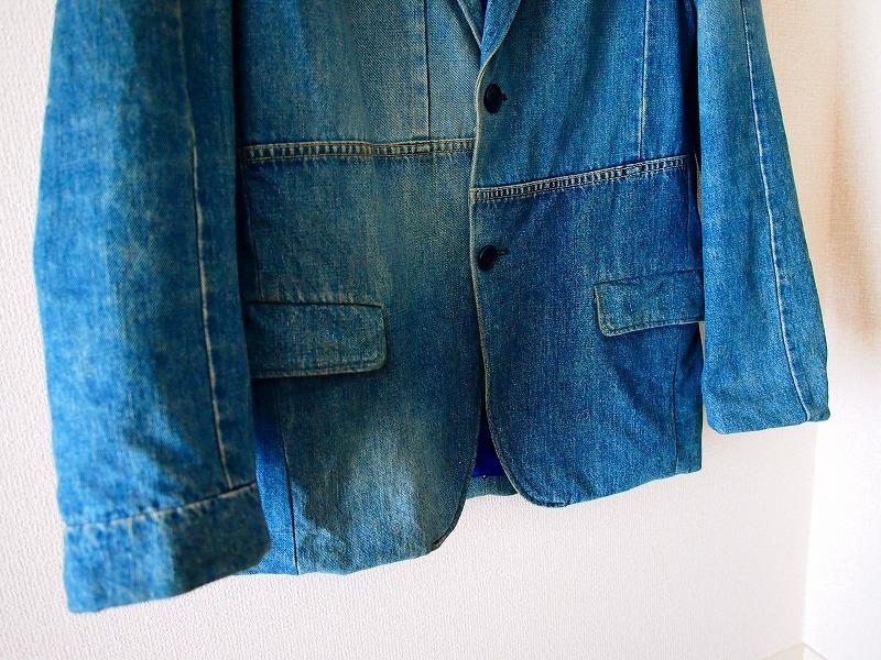 希少!名作 聖林公司 BLUE BLUE JAPAN 日本製 再構築インディゴデニム ジャケット 2/HRM 刺し子剣道カバーオールOKURATシャツAPCニット19SS_画像3