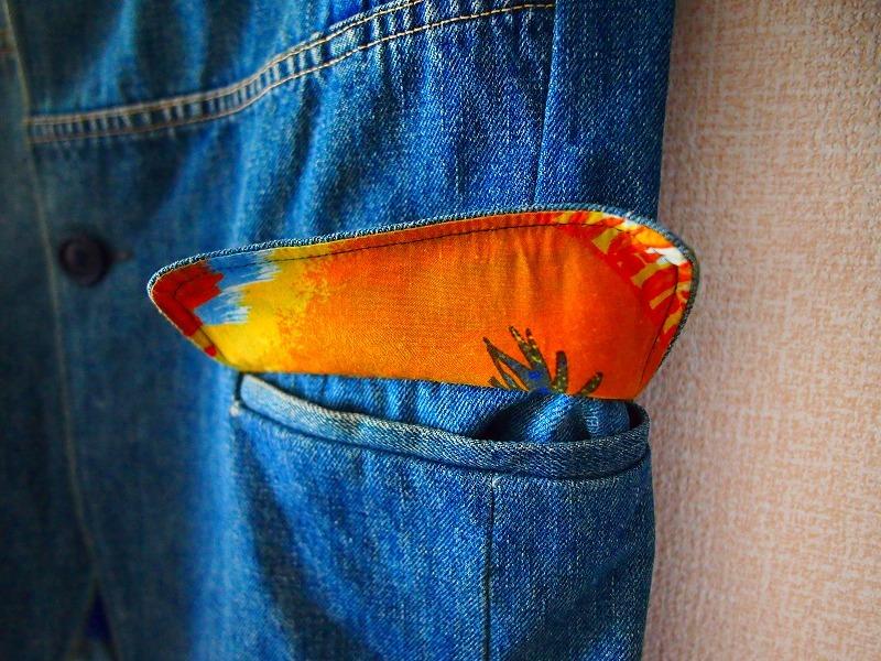 希少!名作 聖林公司 BLUE BLUE JAPAN 日本製 再構築インディゴデニム ジャケット 2/HRM 刺し子剣道カバーオールOKURATシャツAPCニット19SS_画像5