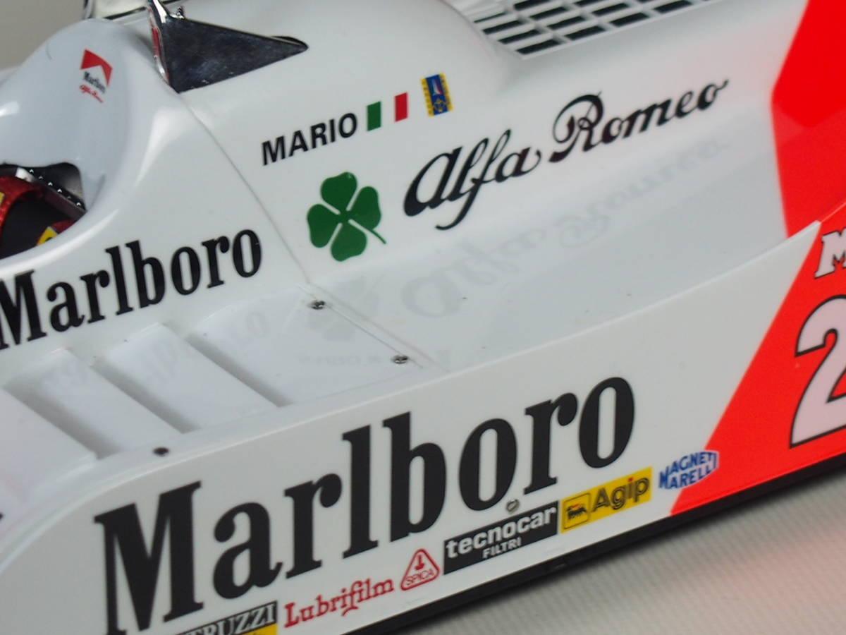 1/12 ITALERI Alfa Marlboro MarioAndretti 完成品_画像6