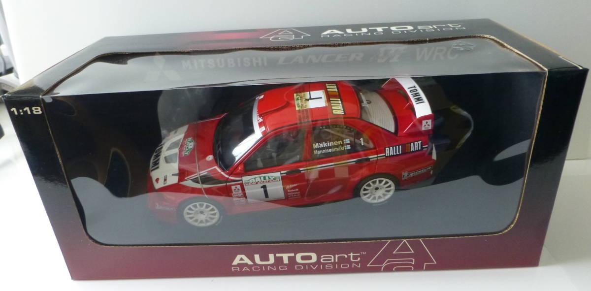 オートアート 1/18 三菱 ランサーエボリューション VI WRC 1999 #1 トミ・マキネン ラリーニュージーランド優勝車 _画像7