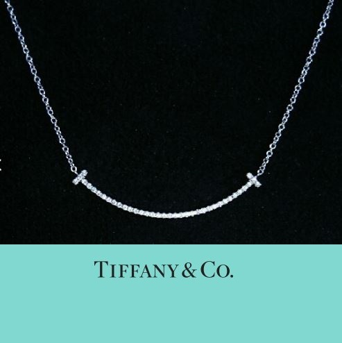 TIFFANY&CO Tスマイル ダイヤ18K WGネックレス ミニサイズ