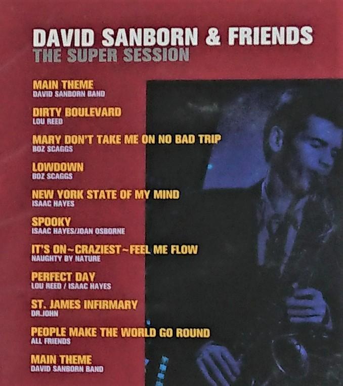 デイヴィッド・サンボーン & フレンズ ザ・スーパー・セッション 1998年国内盤 David Sanborn & Friends The Super Session_画像4