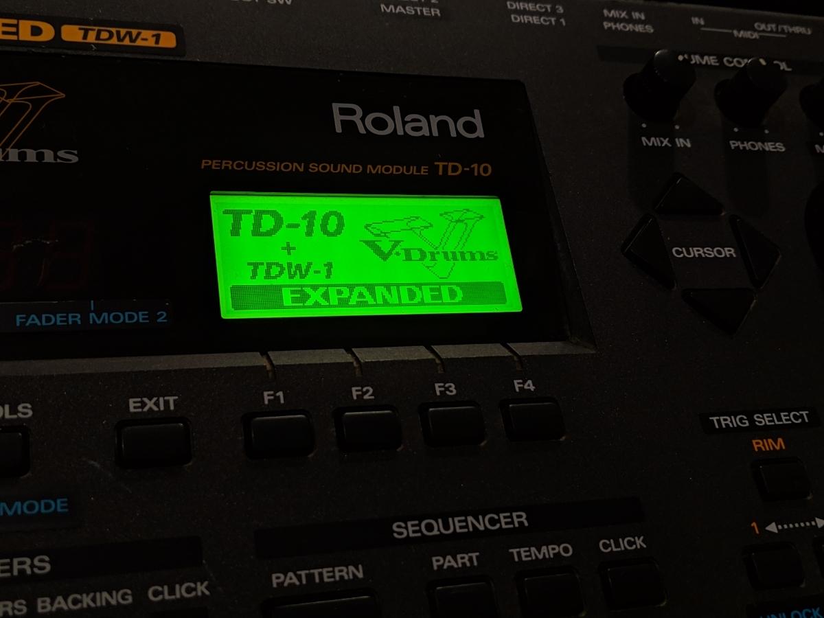 Roland TD-10 V-Drums TDW-1 増設済み 名機 ローランド 電子ドラム ドラム音源モジュール バッテリー交換済み_画像3