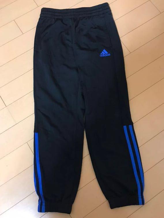 adidas アディダス Boys ジャージ 上下(黒×ブルー) 130cm ★ボーイズ★_画像5