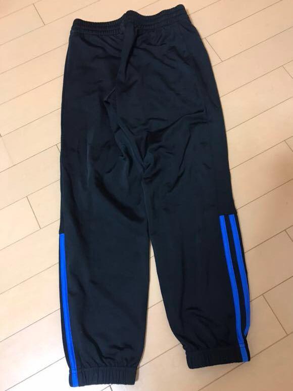 adidas アディダス Boys ジャージ 上下(黒×ブルー) 130cm ★ボーイズ★_画像6