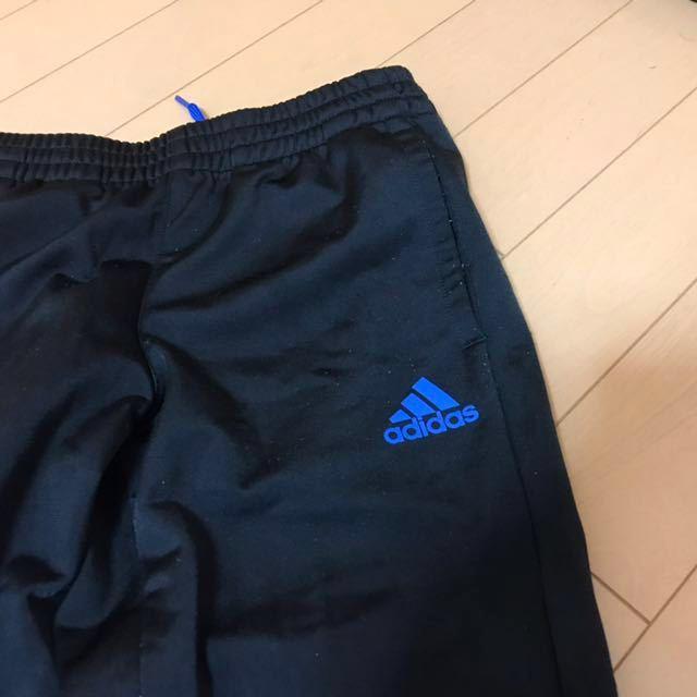 adidas アディダス Boys ジャージ 上下(黒×ブルー) 130cm ★ボーイズ★_画像7