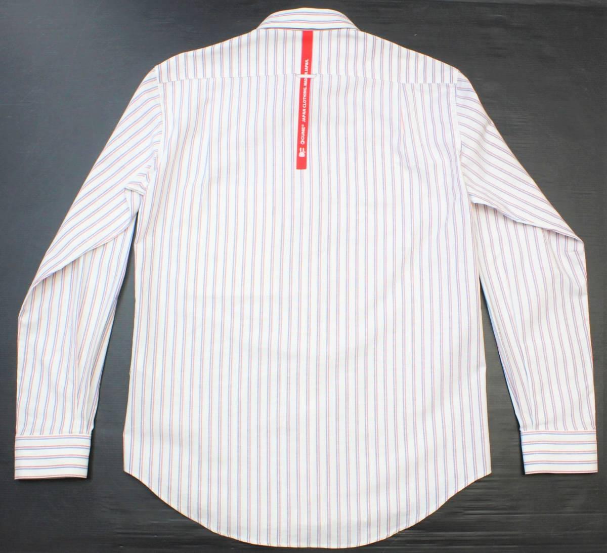 CL13キューン2(M)ボタンダウン 長袖シャツ ストライプCUNE日本製 切り込みポケット シャツ ウサギ 刺繍_画像3