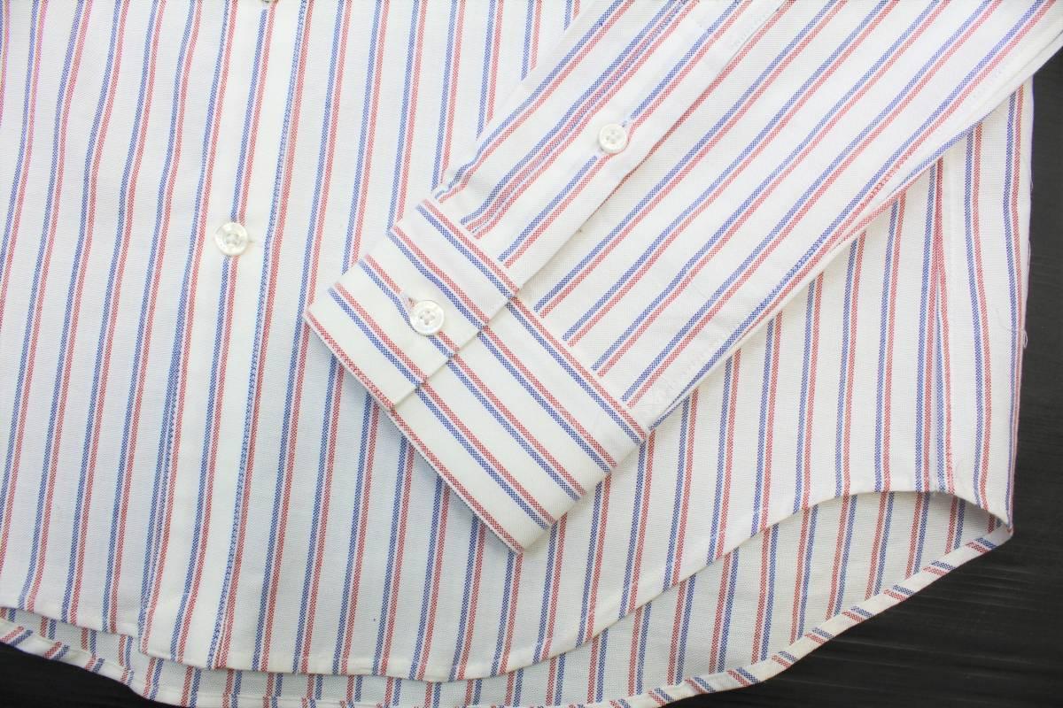 CL13キューン2(M)ボタンダウン 長袖シャツ ストライプCUNE日本製 切り込みポケット シャツ ウサギ 刺繍_画像5