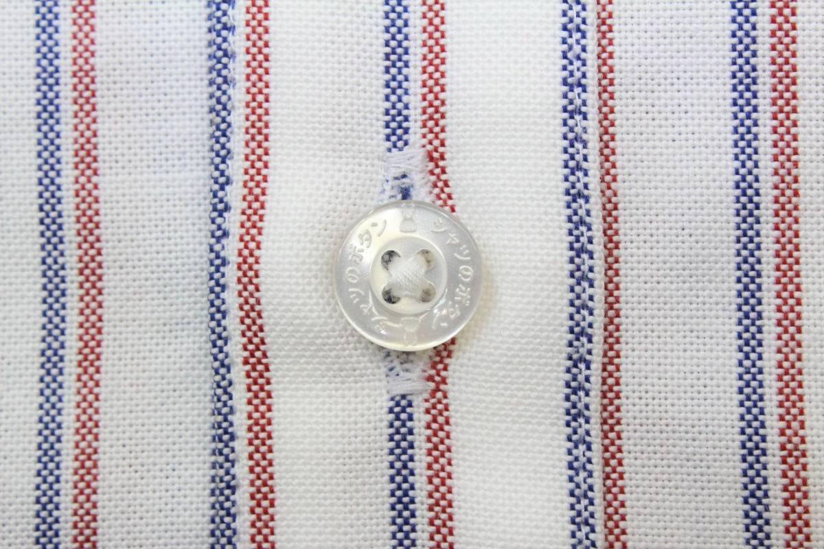 CL13キューン2(M)ボタンダウン 長袖シャツ ストライプCUNE日本製 切り込みポケット シャツ ウサギ 刺繍_画像7