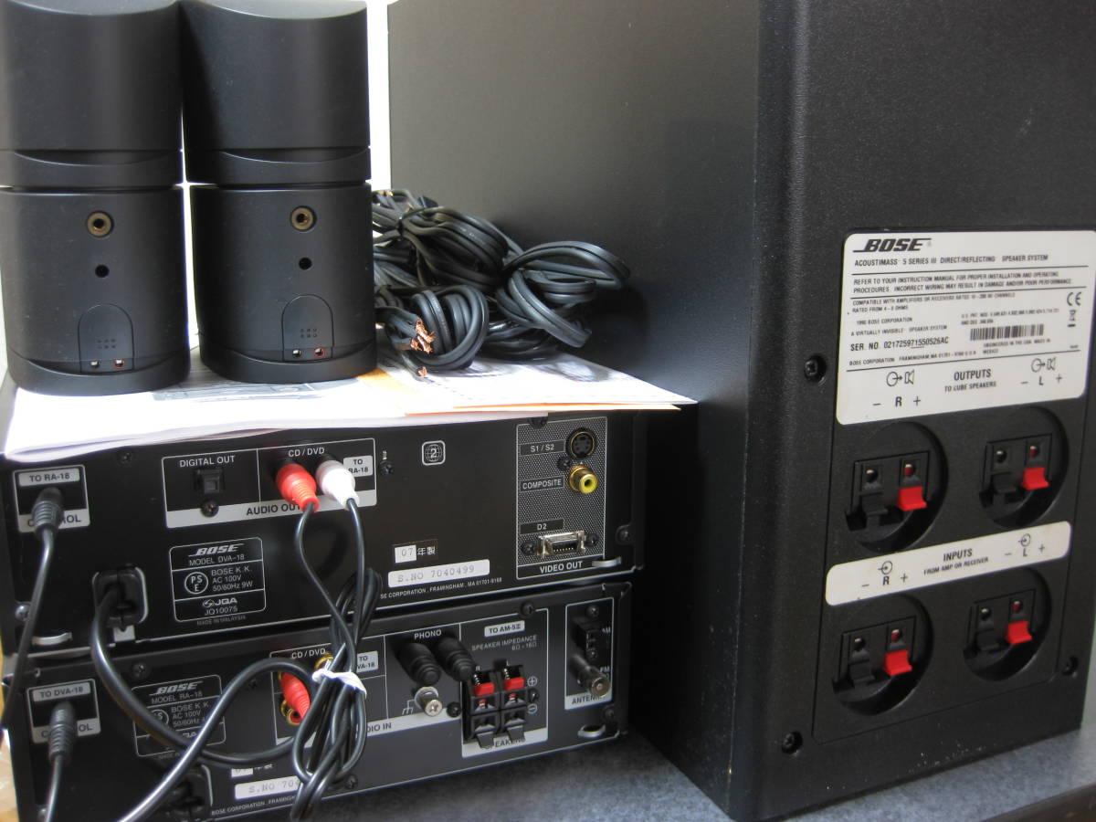 BOSEアメリカンサウンドシステム AMS-1Ⅳ (DVA-18/RA-18/AMS-5Ⅲ) 動作保証_画像8