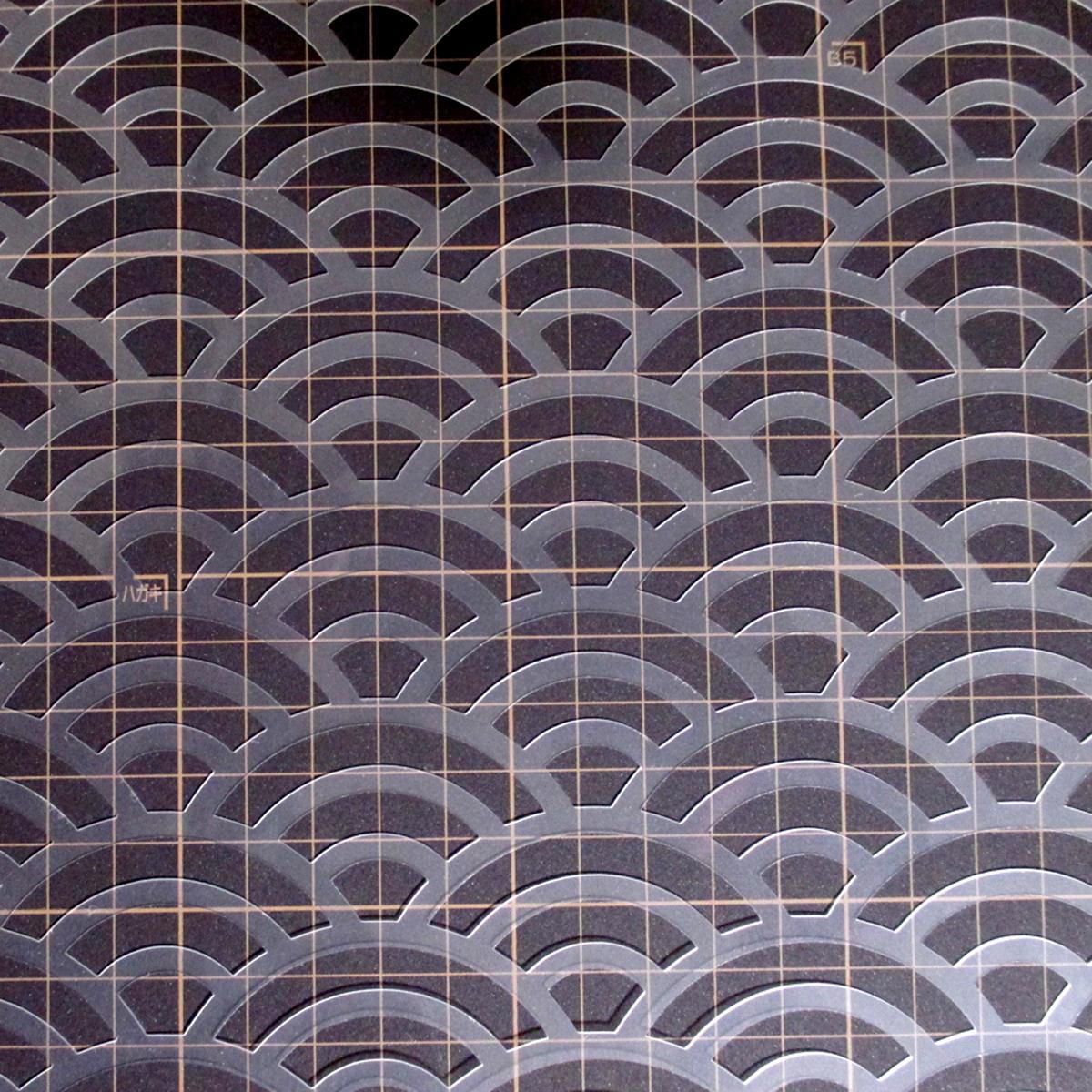 青海波 和風地紋5番 NO235 ステンシルシート 型紙図案_画像5
