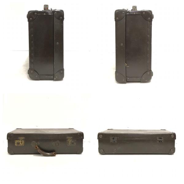 アンティーク スーツケース トランク レトロ オールド ビンテージ 鞄 BAG TRUNK ヴィンテージ 収納 トラベル バッグ モダン 旅行 D-999_画像4