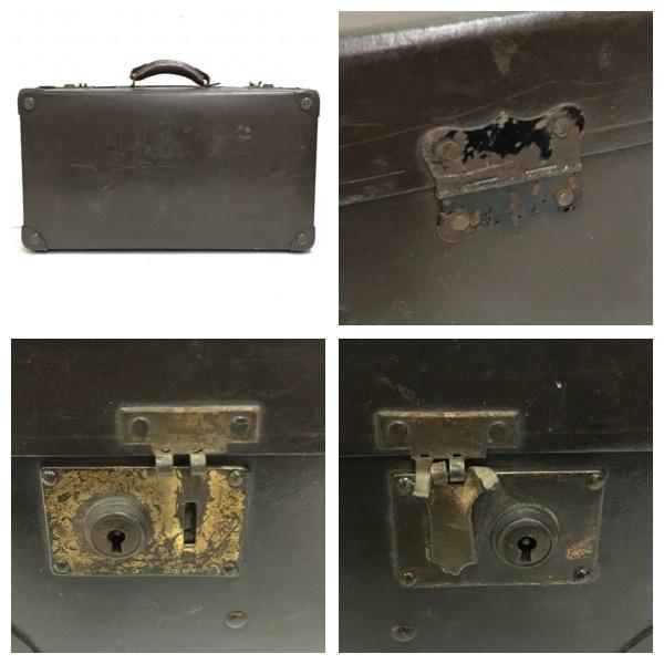 アンティーク スーツケース トランク レトロ オールド ビンテージ 鞄 BAG TRUNK ヴィンテージ 収納 トラベル バッグ モダン 旅行 D-999_画像5
