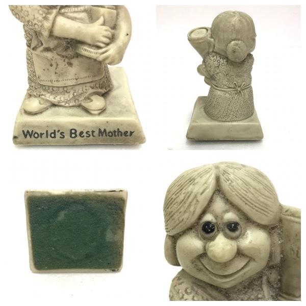 メッセージドール World's Best Mother インテリア アンティーク 雑貨 小物 置物 レトロ オールド ビンテージ シリースカルプス D-1811_画像3