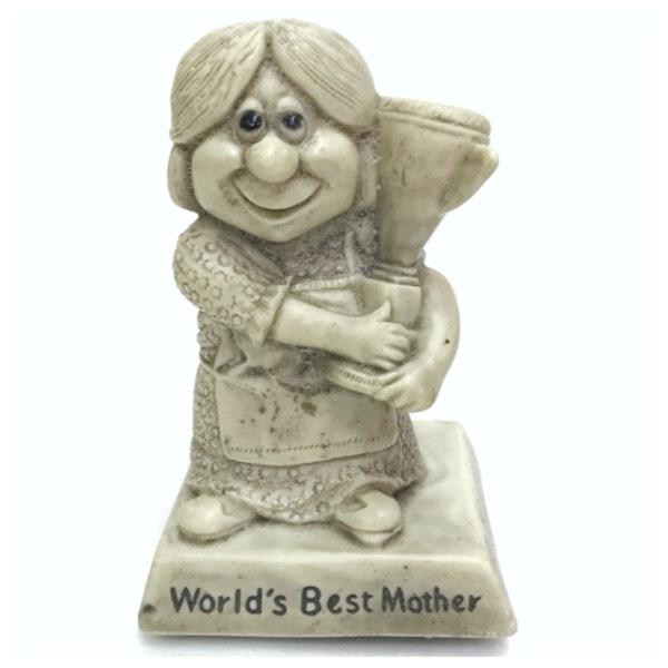 メッセージドール World's Best Mother インテリア アンティーク 雑貨 小物 置物 レトロ オールド ビンテージ シリースカルプス D-1811_画像1